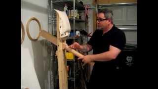 Wing Chun On A Choy Lay Fut Style Wooden Dummy - Kenpo Raining Claw
