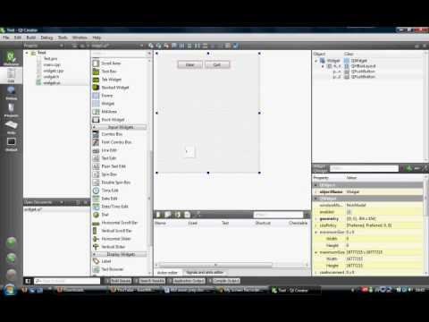 how to create signal handlers in c++ qt