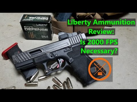 Download Youtube: Liberty Ammunition Civil Defense First Impressions: 2000 FPS 9mm For CCW?