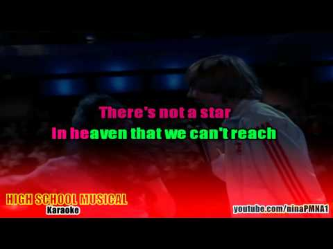 KARAOKE Breaking Free - High School Musical