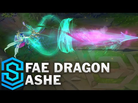 Fae Dragon Ashe Skin Spotlight - Pre-Release - League of Legends