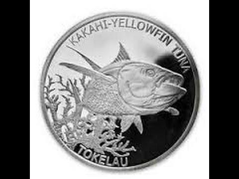 2014 Tokelau 1 oz. Silver Kakahi Yellowfin Tuna Coin