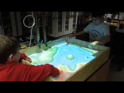 Interactive Topographic Map From A Sand Box YouTube - Interactive topo map