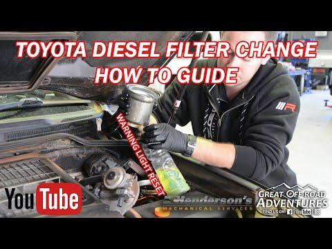 Toyota Fuel Filter Change & Warning Reset (All Diesels) - How To Guide