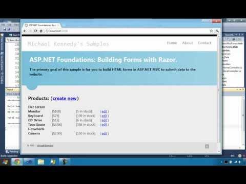 Building ASP.NET MVC Forms With Razor (ASP.NET MVC Foundations Series)