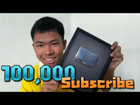 รีวิวโล่ยูทูปสีเงิน!! 100,000 Subscribe /\#@$% Youtube Silver Play Button