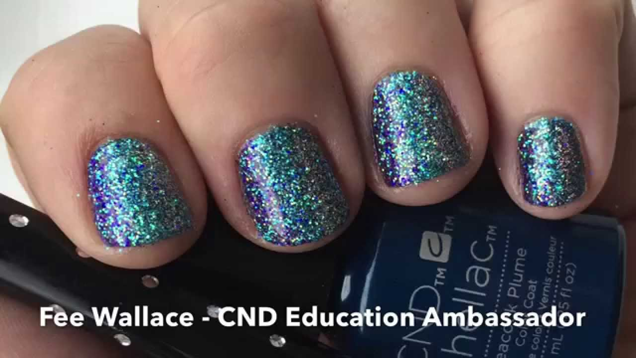Cnd Shellac Lecente Glitters Twist On Mood Ring Nail Design