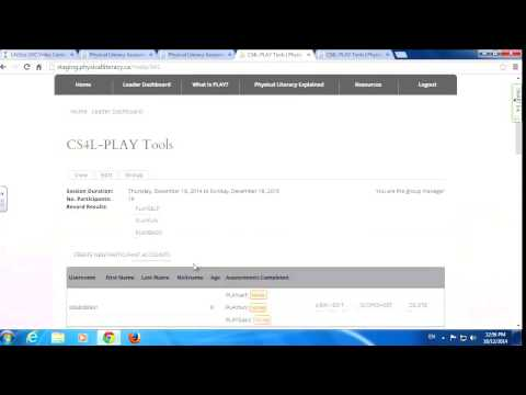 PLAY Website Tutorial: Leader Dashboard, Groups & Participants