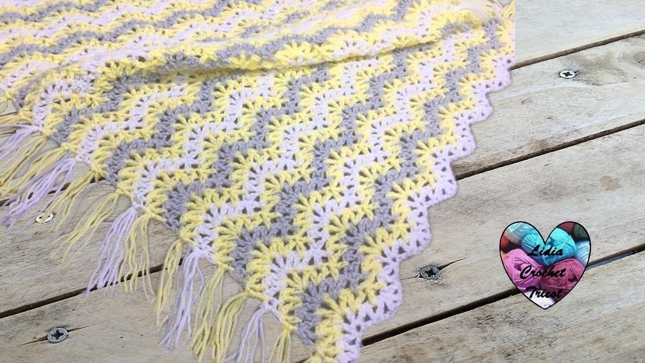 Couverture zig zag facile crochet / Blanket zig zag stitch crochet ...