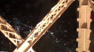 Ride the Eiffel Tower glass elevator in Paris