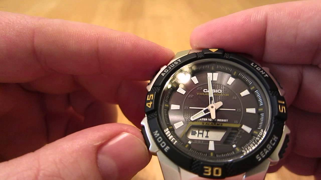 8464c915416 Casio AQS800WD-1EV analog-digital watch review - YouTube