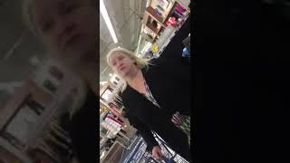 Crazy Possessed Lady Losing It At New Haven, MI Meijer (NSFW)