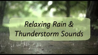 Soothing Rain & Thunder Sounds for Relaxation and Meditation