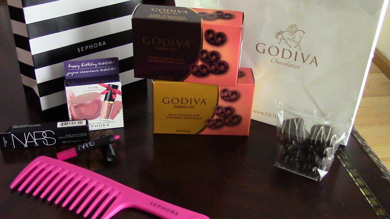 September Birthday Gifts Sephora And Godiva 2017