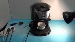 Ремонт кофеварки EC220 CD нет давления воды. Ремонт своими руками.(Кофеварка не дает кофе. Нет давления воды., 2015-09-11T22:01:10.000Z)