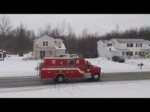 Rapids VFC + Niagara County Sheriffs Responding to a Water Rescue | 1/13/18