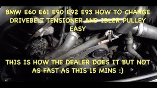 Bmw N52 How To Change Aux Belt & Tensioner & Idler Pulley