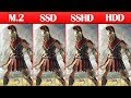 M.2 NVME vs SSD vs SSHD vs HDD Game Loading Times