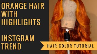 Sza Inspired Orange Hair w/ Highlights Tutorial Using Hair From Laced By Layy