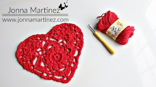 HOW TO CROCHET A DOILY HEART | Lace heart | ❤️