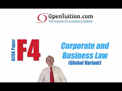 Free lectures for the ACCA F4 Corporate and Business Law