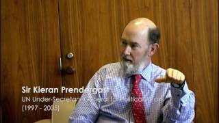 Sir Kieran Prendergast Discussing Peace Day