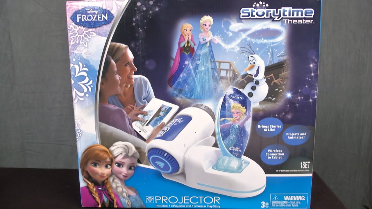 Disney Frozen Storytime Theater Projector From Tech 4 Kids Youtube