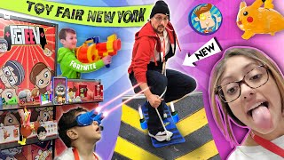 2020 NEW YORK TOY FAIR!!  FUNnel Fam Highlights! (FORTNITE NERF, Upside Down Challenge & More Vlog)