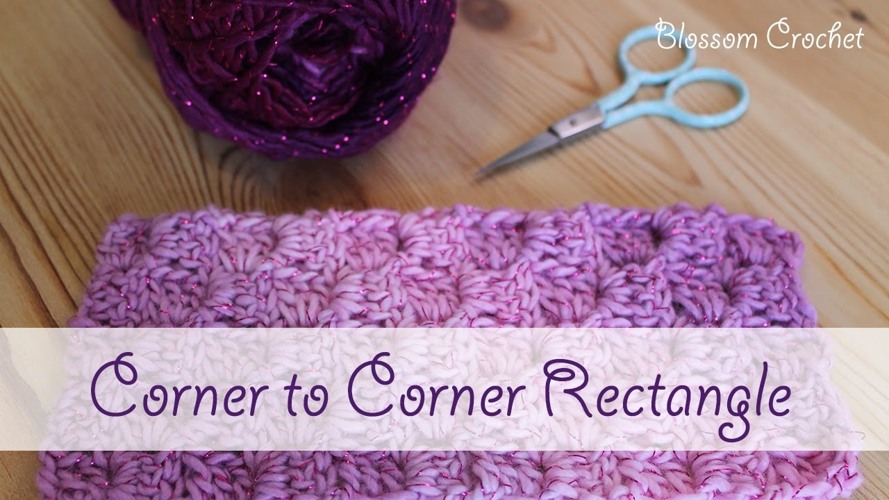 How to Crochet a Corner to Corner (C2C) Rectangle - YouTube