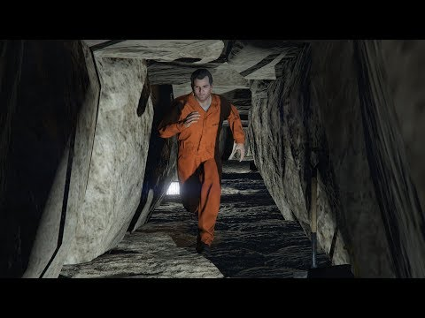 GTA 5 - Prison Break Mission With Michael! (Secret Escape Tunnel)