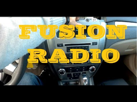 2010  2012 ford fusion radio removal