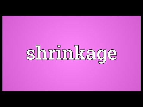 Shrinkage Meaning - YouTube