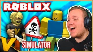 WEDDED A NOOB TO DEATH! 😂:: Weapon Simulator Roblox english