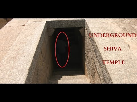Underground Shiva Temple and Secret Council Chamber - Hampi, India