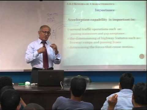 Lecture 21: Characteristics of Road Users -5