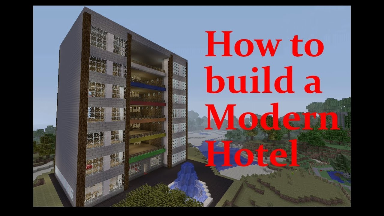 minecraft hotel tutorial youtube