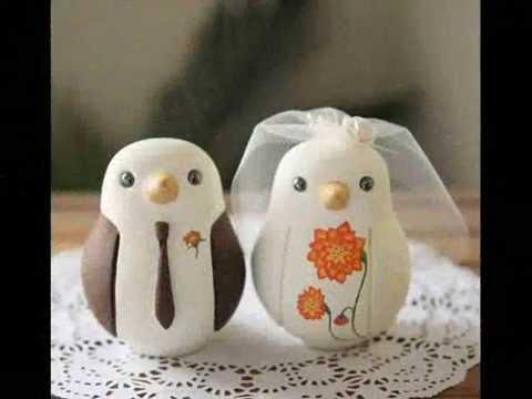 Wedding Birds Cake Toppers