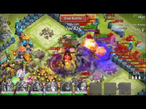Guild Wars Attacks BradRS 190k Might 2500+ Points Castle Clash