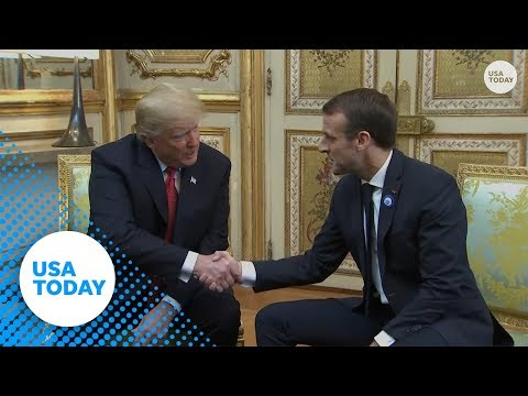 Trump to Macron: We'd like a 'robust Europe' and to speak about terrorism