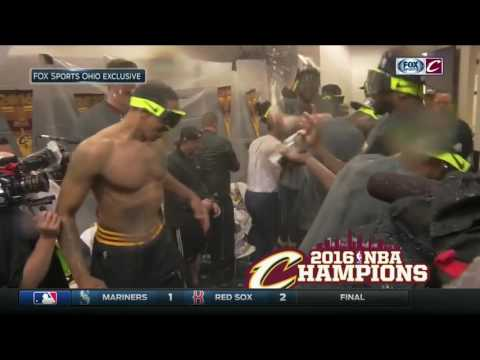 Inside locker room as Cavs celebrate 2016 NBA championship