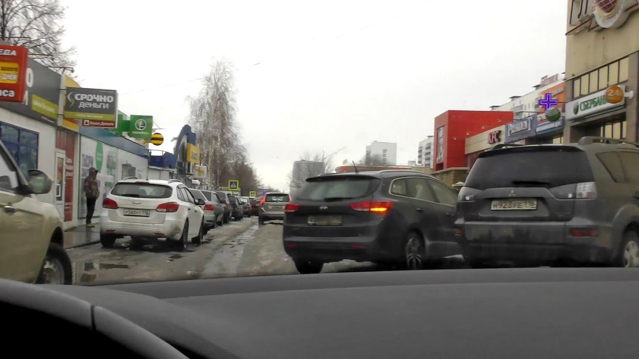 Driving in Russia during thaw | POV car driving