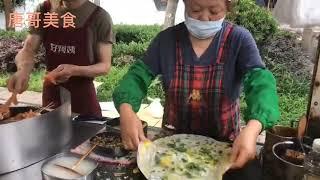【唐哥美食】美食:昆山最有名的网红厕所煎饼天天排队半小时才能买到