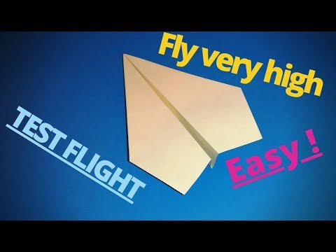 How To Fold The World Best Paper Airplane │A Paper Plane Flying Very High, Far And Fast.