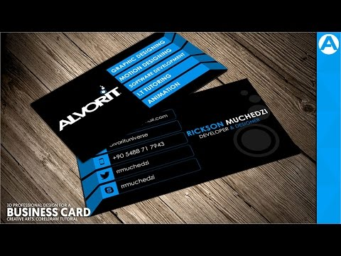 Professional Business Card Design (Blue 3D Project) in CorelDraw | Creative Arts™