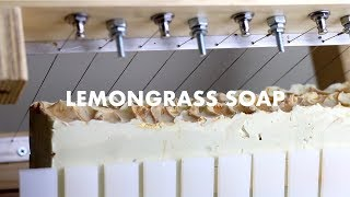 The Making of Lemongrass and Lime Soap
