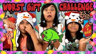 Worst Gift Challenge - Christmas Games Opening Presents : Challenges // Gem Sist