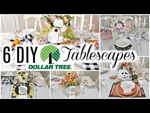"🍁6 DIY DOLLAR TREE FALL TABLESCAPE DECOR IDEAS / COLLAB 🍁""I LOVE FALL ep 21 Olivia's Romantic Home"