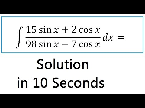 INTEGRATION Shortcut Method:-Calculus Tricks