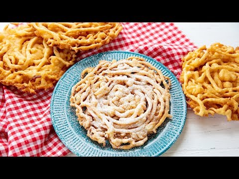 How to Make County Fair Funnel Cakes | The Stay At Home Chef