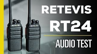 Retevis RT24 Audio Test - Motorola T80 Comparison